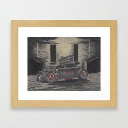 Hot Rod Batmobile  Framed Art Print