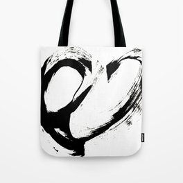 Brushstroke 6: a minimal, abstract, black and white piece Tote Bag