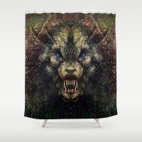 beast Shower Curtains featuring Beast by Zandonai
