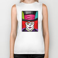 mad hatter Biker Tanks featuring Mad Hatter by Artistic Dyslexia