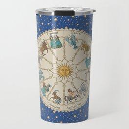 Vintage Astrology Zodiac Wheel Travel Mug