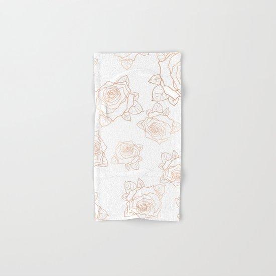 Metallic Roses Hand & Bath Towel
