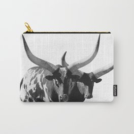 Ankole-Watusi Porttrait | African Cattle Carry-All Pouch