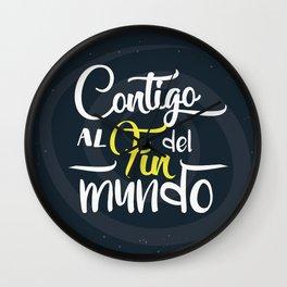 Contigo_frase Wall Clock