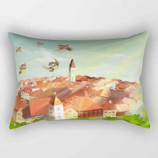 Sunny town Rectangular Pillow