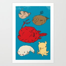Creatures of the Deep Art Print
