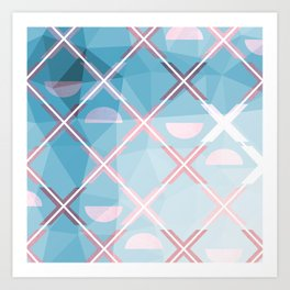 Abstract Triangulated XOX Design Art Print