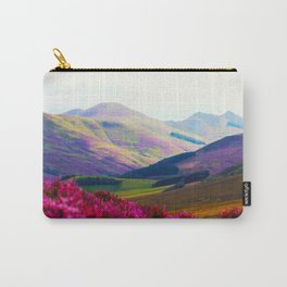 Beautiful Candy Land Fairytale Fantasy Landscape Purple pink Flowers Rolling Hills Moutains Carry-All Pouch