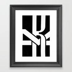 Train Abstract Framed Art Print