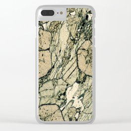 Garnet Crystals Clear iPhone Case