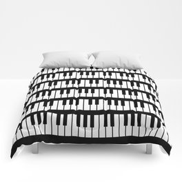 Black And White Piano Keys Pattern Comforters