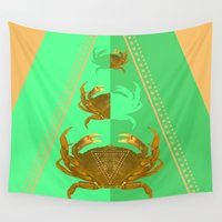 crab Wall Tapestries featuring symetric crab by AmDuf