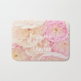 kiss me tender Bath Mat