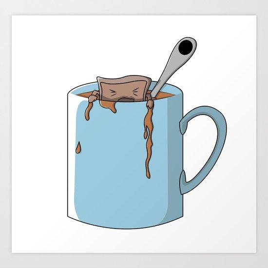 Teabag and mug Art Print