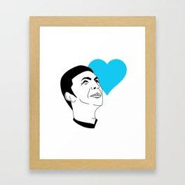LOGICAL LOVE Framed Art Print