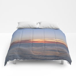 Sunset at Etretat, France Comforters