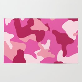 Pink camo camouflage army pattern Rug