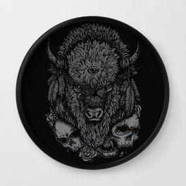 Wild Bison Wall Clock