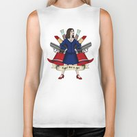 peggy carter Biker Tanks featuring Fight like a Girl - Peggy Carter by HayPaige