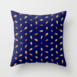 Flying ice pops  Throw Pillow