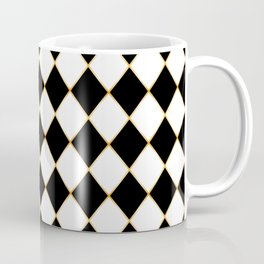 Chess board with golden threads Coffee Mug