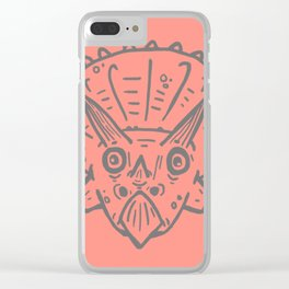 Asteroid Anxiety - Triceratops Clear iPhone Case