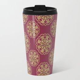 Golden Flor Travel Mug