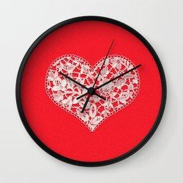 Heart, Lace Wall Clock