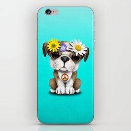 Cute British Bulldog Puppy Hippie iPhone Skin