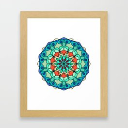 Nature Colorful mandala Framed Art Print
