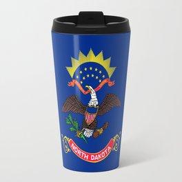 flag of north dakota,america,usa,midwest,dakotan, Roughrider,Flickertail,bismark,fargo,Peace Garden Travel Mug