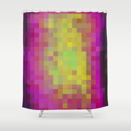 Aqua Color Study Shower Curtain
