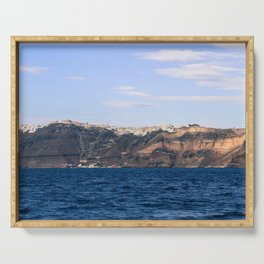 Santorini, Greece 17 Serving Tray