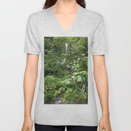 SEE THAT WATERFALL!  LOOKIE THERE! Unisex V-Neck