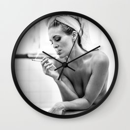 The French Inhale Wall Clock