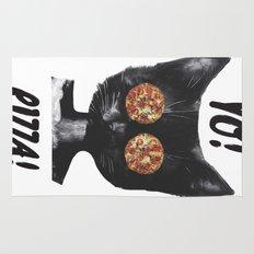 Pizza cat Rug