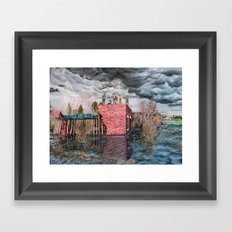 Water Wall Framed Art Print