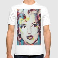 Merylin Monroe cinema and pop culture icon - portrait White Mens Fitted Tee MEDIUM