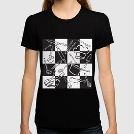 Kitchen Tools Checkerboard T-shirt