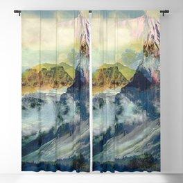 Mountain landscape digital art Blackout Curtain