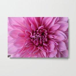 Pink Whorly Flower Metal Print