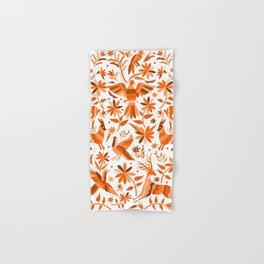 Mexican Otomí Design in Orange Color Hand & Bath Towel