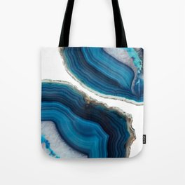 Blue Agate Tote Bag