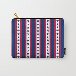 OK USA United States American Flag Print Seamless Pattern Carry-All Pouch