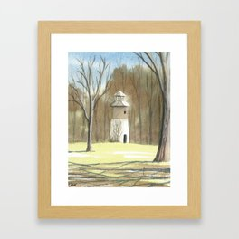 Briars Round House, Golf Course Framed Art Print