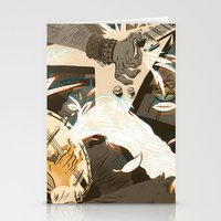 folk Stationery Cards featuring Folk vs. Metal by Logan  Faerber