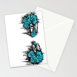 If I Could hide your eyes - blue version Stationery Cards