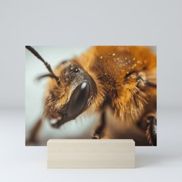 Worker Bee. Macro Photograph Mini Art Print