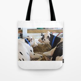 Pair Of Black And White Cows 2 Tote Bag