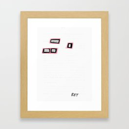 Egotism Framed Art Print